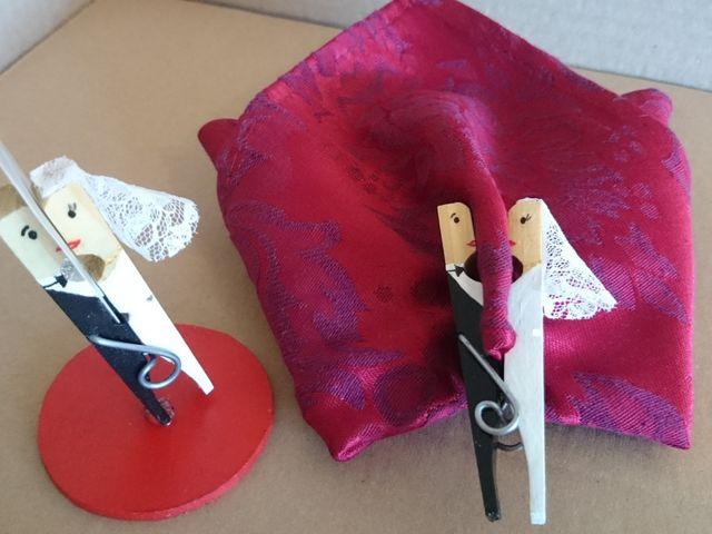 DIY marque-places avec des pinces à linge