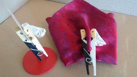 DIY marque-places avec des pinces � linge