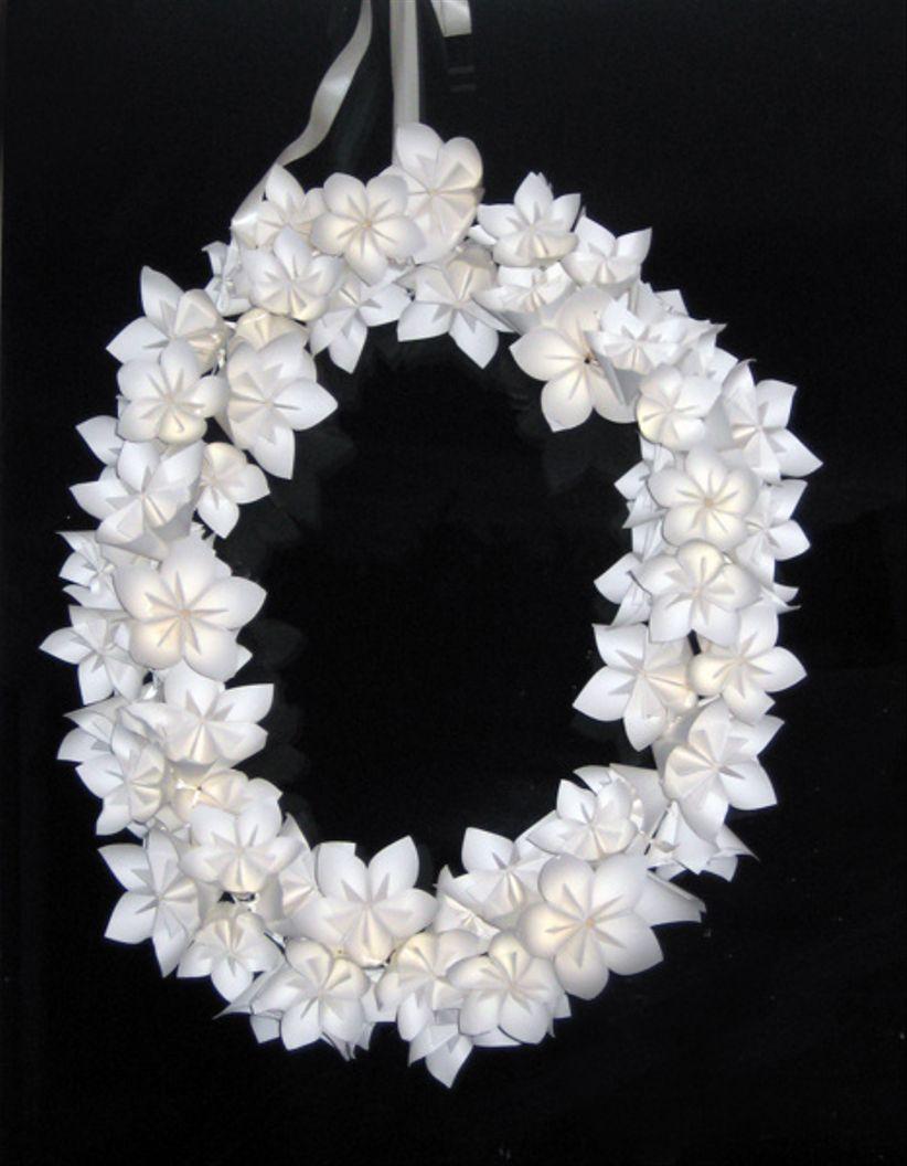 Tutoriel pour cr er une couronne de fleurs en papier - Diy couronne de fleurs ...
