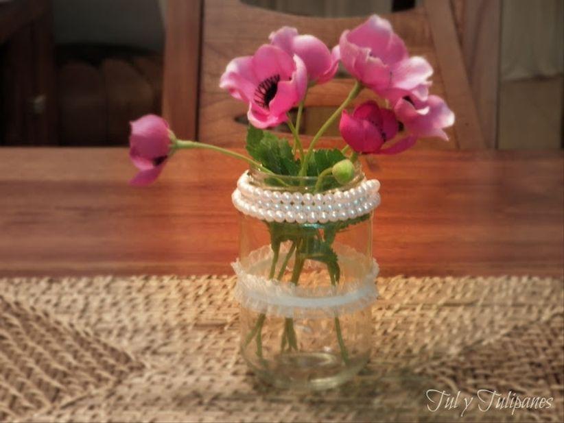 tutoriel centre de table romantique. Black Bedroom Furniture Sets. Home Design Ideas
