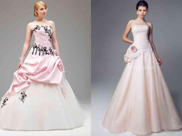 10 robes de mariée roses 2014