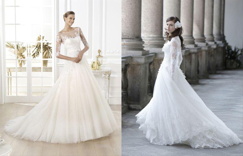 12 robes de mariée avec manches longues
