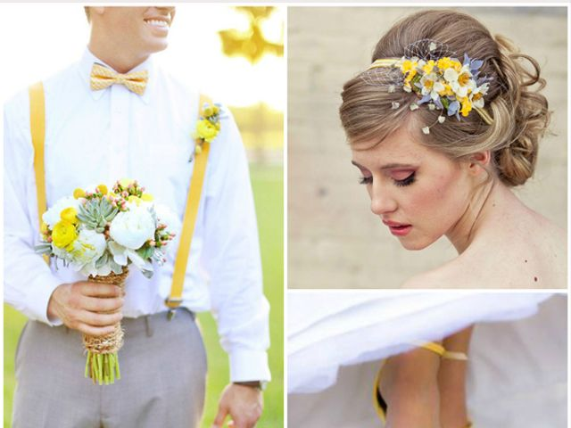 Mariage bicolore : jaune et violet - Décoration - Forum Mariages.net
