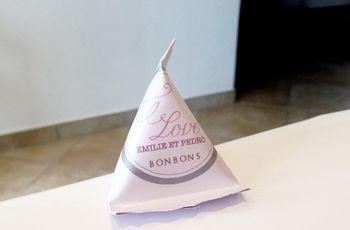 Tutoriel berlingot en papier pour dragées