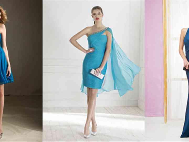 nouvelle arrivee 7478a 38558 15 robes bleues pour les invitées du mariage