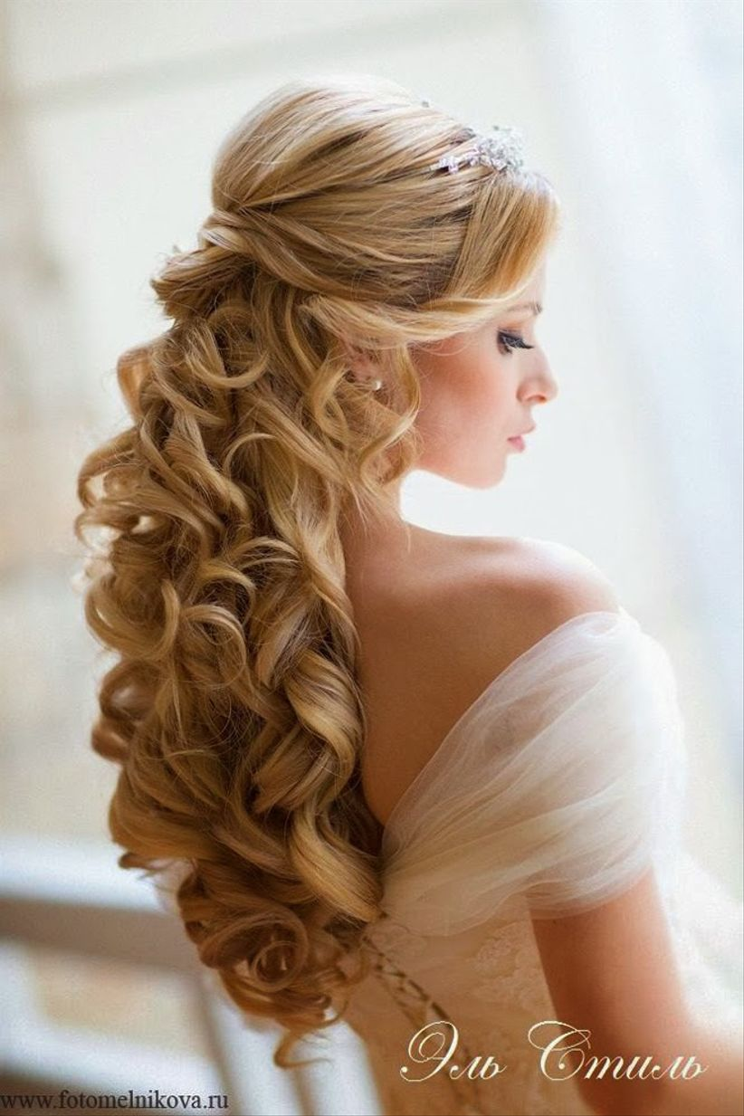 coiffure mariage cheveux long d tach s wedding hairstyle. Black Bedroom Furniture Sets. Home Design Ideas