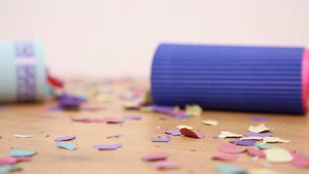 Fabriquez vos lance-confettis pour la sortie de cérémonie !