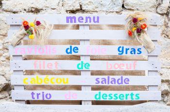 30 idées surprenantes pour présenter vos menus de mariage