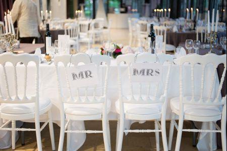 Conseils pour d�corer des tables de mariage rectangulaires