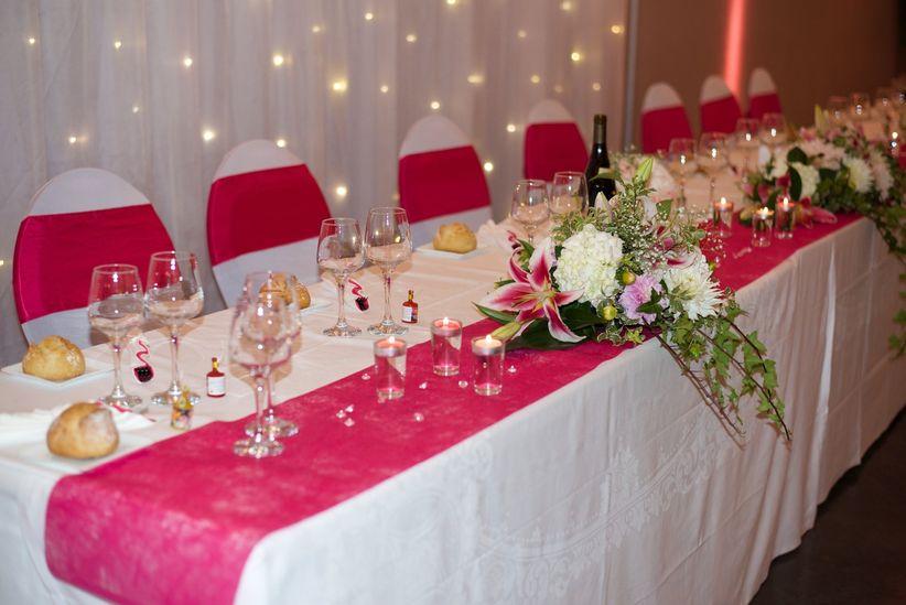 Decoration mariage table rectangulaire id es de d coration et de mobilier p - Centre de table rectangulaire mariage ...