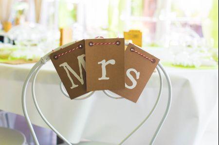 Comment d�corer les chaises du mariage ?