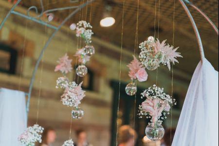 25 idées de décorations de mariage suspendues