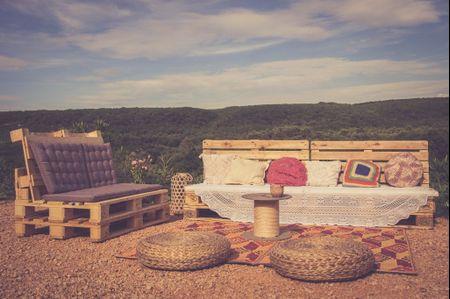 Idées pour l'installation d'un coin détente à votre mariage
