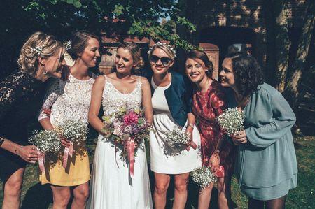 25 bouquets pour les demoiselles d'honneur