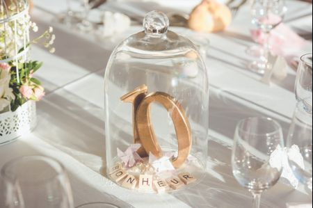 30 décorations de table de mariage avec des cloches en verre
