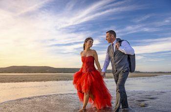 Une robe de mariée rouge : oui au glamour !