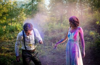 Holi : une séance trash the dress riche en couleurs !