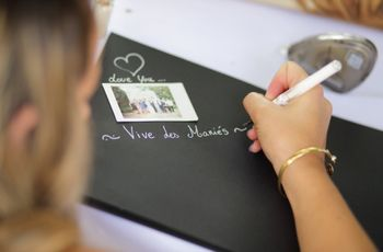 20 consignes à donner à vos invités pour votre livre d'or