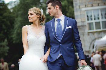 Costumes de mariage bleus   30 options pour toutes les saisons 713cb64b109