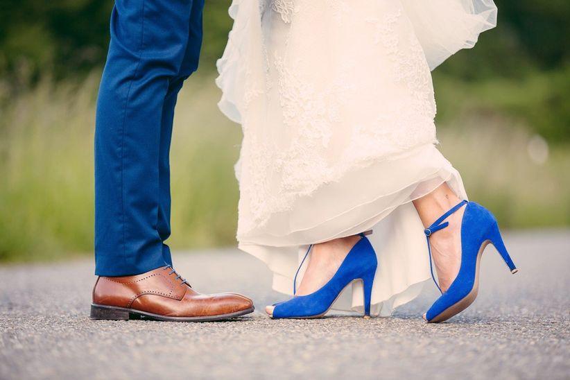 Chaussures de mariage bleues 6.5-7/EU37/UK4 AirByK2NX8