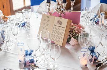 20 idées de présentation originale pour le menu de mariage