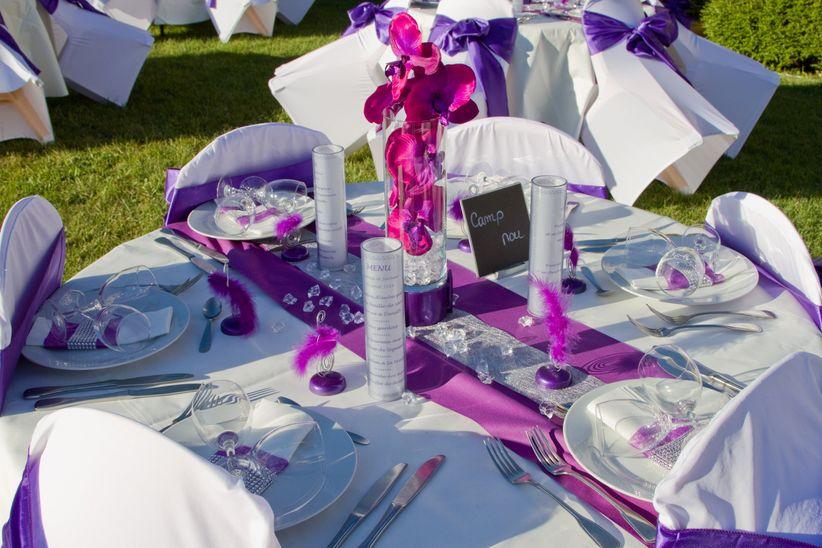 Décoration Mauve Et Gris 13 décorations de tables de mariage hautes en couleur