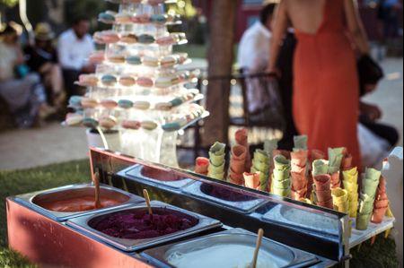 Bar à glaces : craquez pour un cocktail de mariage rafraîchissant !
