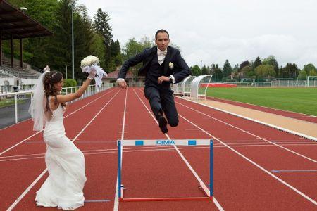 Le sport comme th�me du mariage