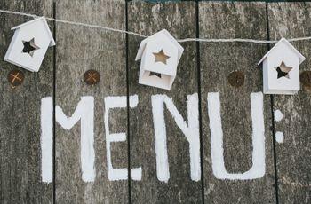 Présentations originales pour le menu de mariage