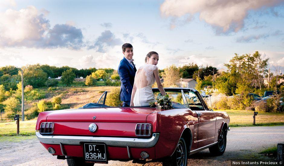 Le mariage de antoine et emilie à Auros, Gironde