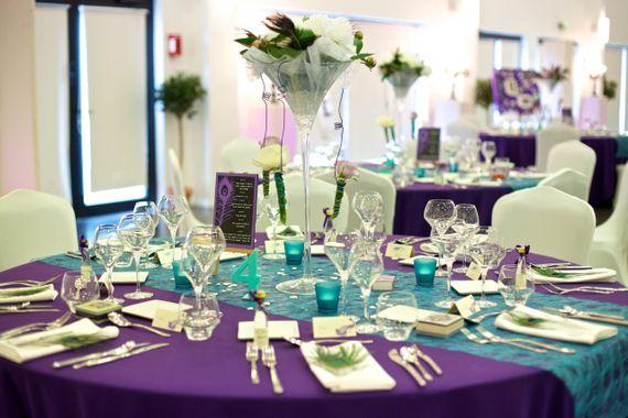 mariage bleu et violet