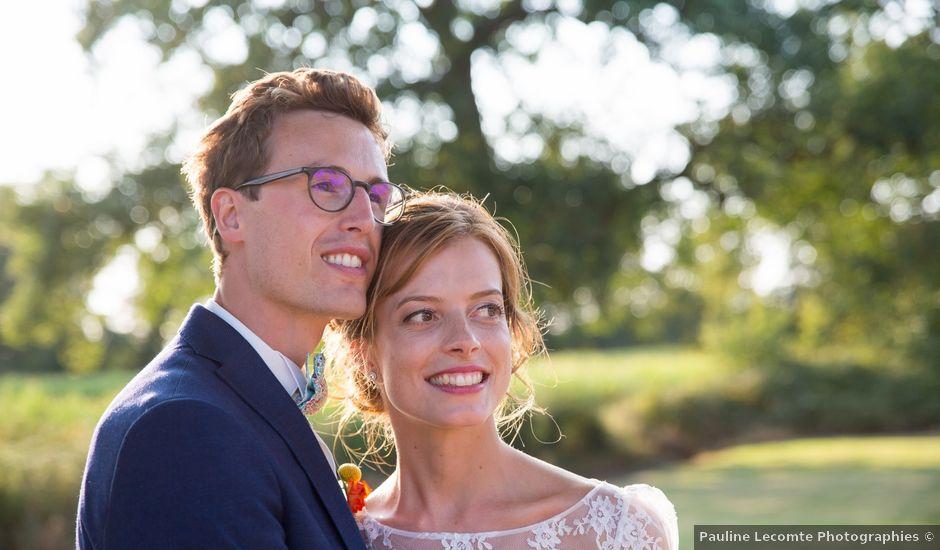 Le mariage de Guillaume et Mathilde à Bécon-les-Granits, Maine et Loire