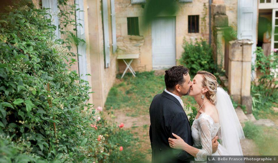 Le mariage de Gilles et Lindsay à Puycelci, Tarn