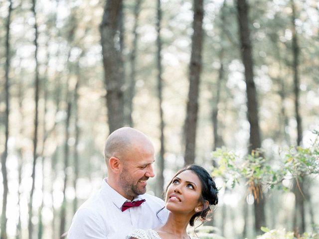 Le mariage de David et Meena à Balizac, Gironde 1