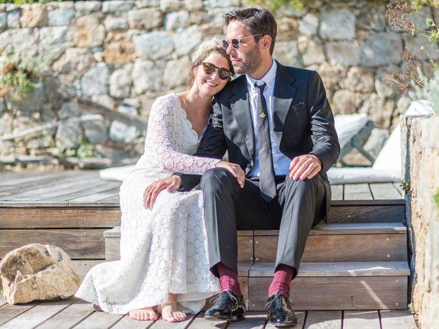 Le mariage de Mathieu et Raphaelle à Corbara, Corse 11