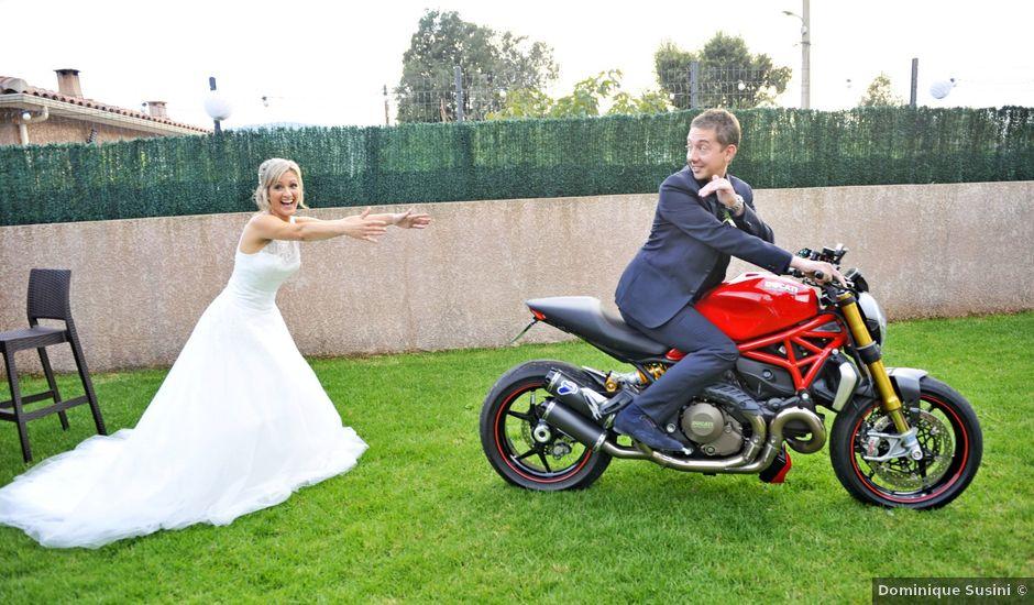 Le mariage de Mathieu et Virginie à Afa, Corse