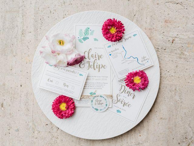 Le mariage de Felipe et Claire à Lacenas, Rhône 1