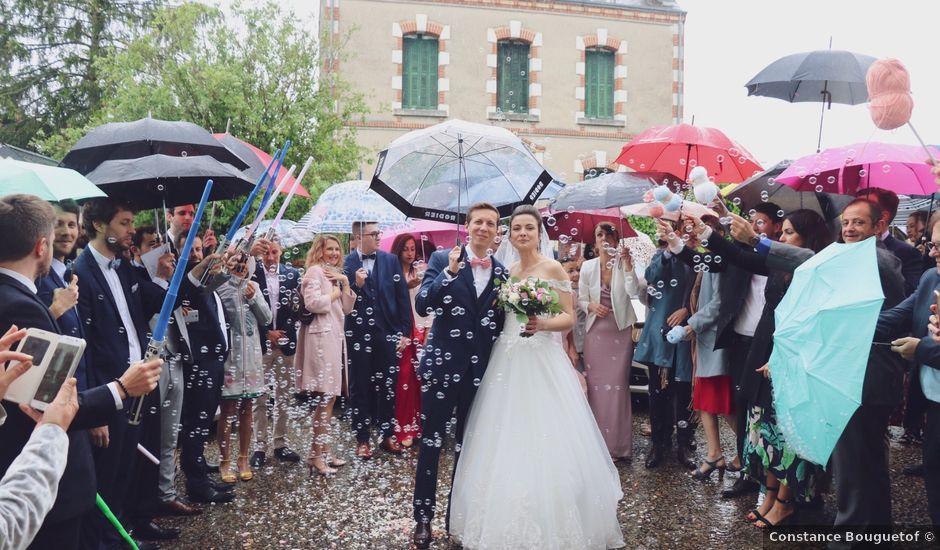 Le mariage de John et Laurine à Bossée, Indre-et-Loire