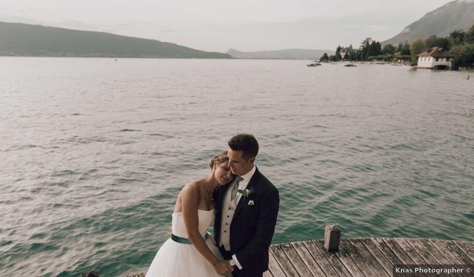 Le mariage de Micheala et Thomas à Menthon-Saint-Bernard, Haute-Savoie