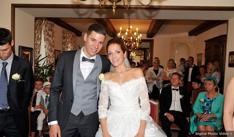 Le mariage de nils et chloe neufgrange moselle for Halloween 2015 jardin franco allemand