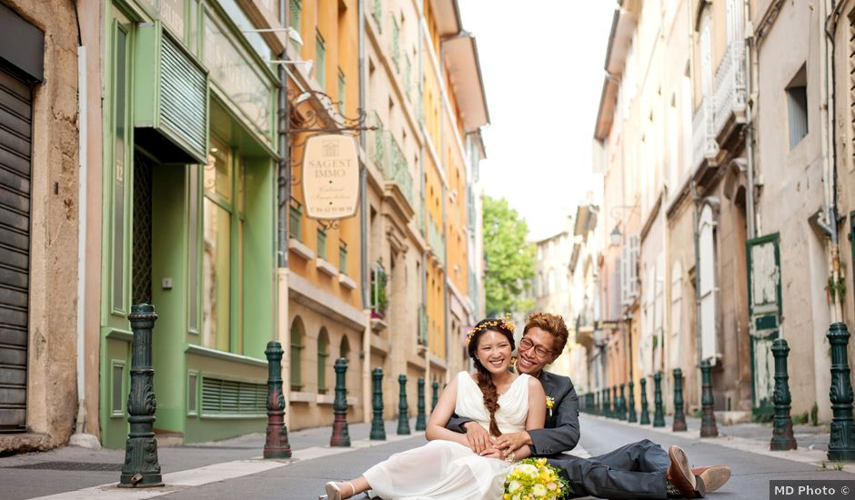 Le mariage de Shuichi et Rina à Aix-en-Provence, Bouches-du-Rhône