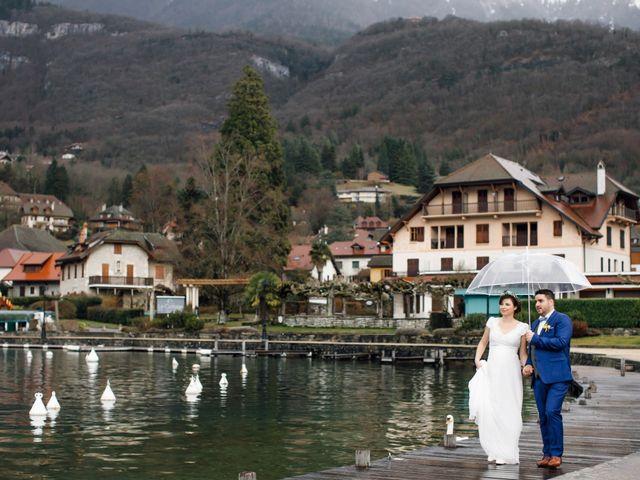 Le mariage de Julien et Judith à Talloires, Haute-Savoie 10