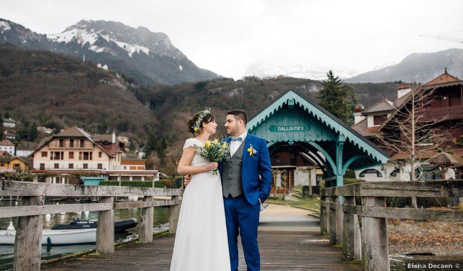 Le mariage de Julien et Judith à Talloires, Haute-Savoie