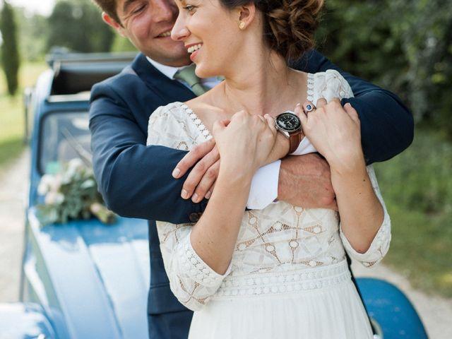 Le mariage de Victor et Florence à La Romieu, Gers 1