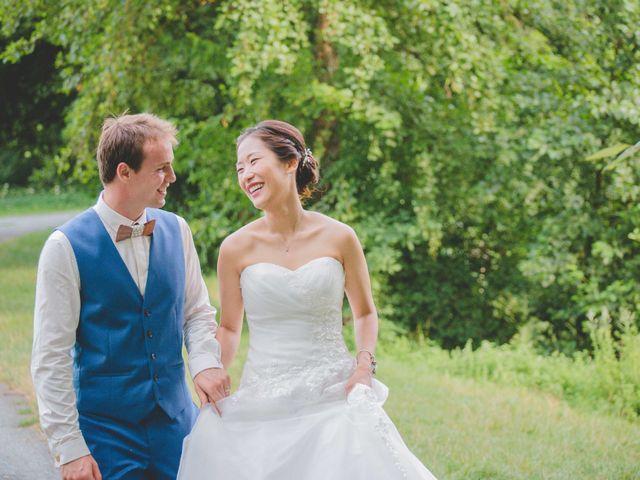 Le mariage de Eunjung et Guillaume à Ars-sur-Formans, Ain 2