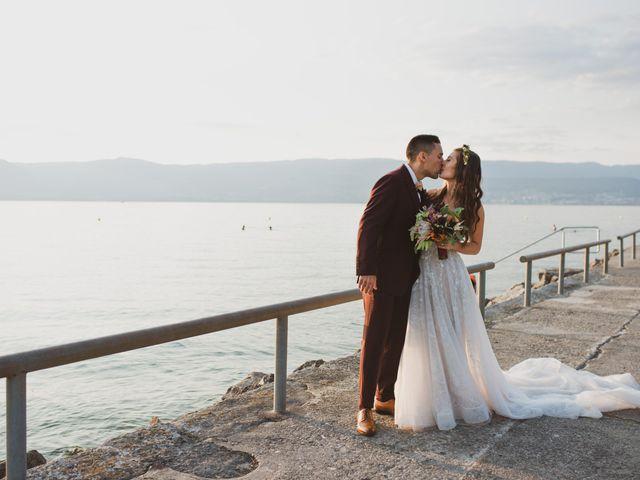 Le mariage de Nelson et Elissa à Estavayer, Fribourg 1