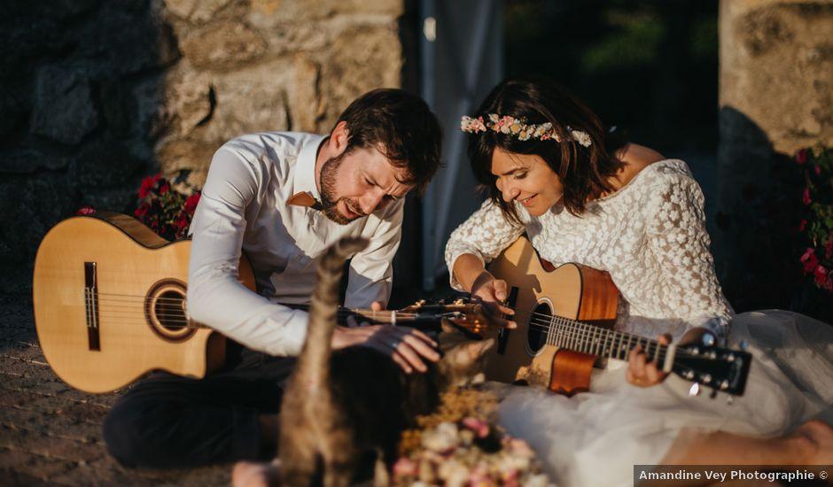 Le mariage de Bertrand et Chloé à Lemps, Ardèche