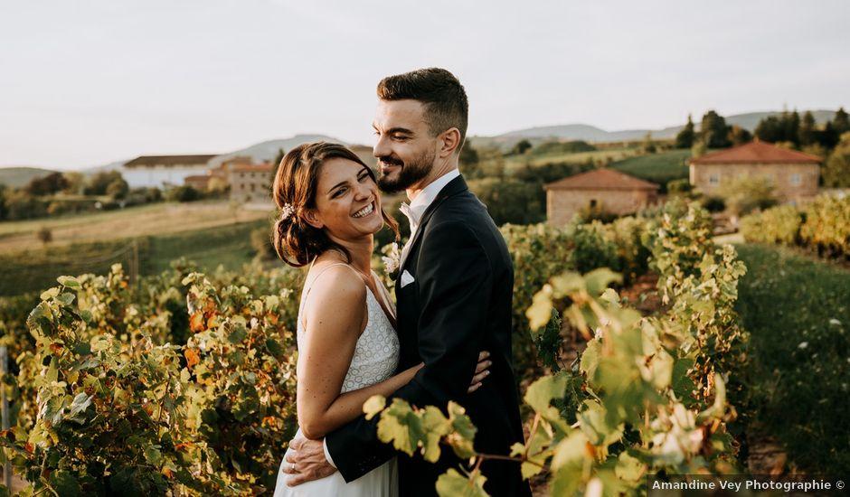 Le mariage de Thomas et Sophie à Saint-Laurent-d'Oingt, Rhône