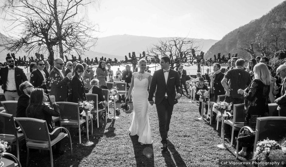 Le mariage de William et Laurie à Talloires, Haute-Savoie