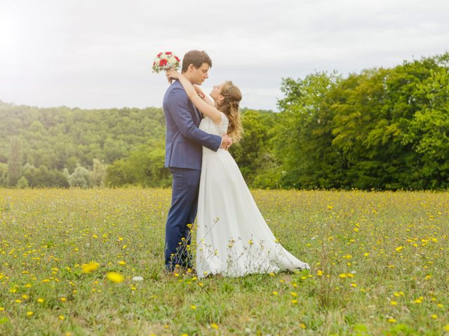 Le mariage de Gabriel et Alice à Druyes-les-Belles-Fontaines, Yonne 1